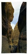 Slot Canyon Within The Tent Rocks Beach Towel