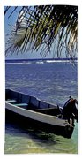 Small Boat Belize Beach Towel