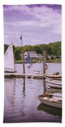 Small Boat Day Beach Towel
