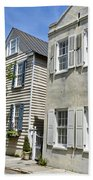 Small Colonial Style Homes Beach Towel