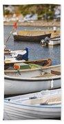 Small Fishing Boats Beach Towel