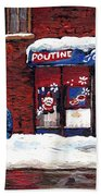 Small Format Paintings For Sale Poutine Lafleur Montreal Petits Formats A Vendre Cspandau Artist  Beach Towel