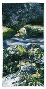 Small Freshwater Spring Under Rocks Beach Towel
