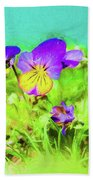 Small Group Of Violets Beach Towel
