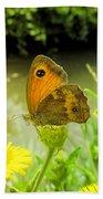 Small Heath Butterfly Beach Towel