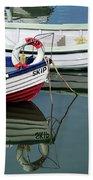Small Skiffs - Lyme Regis Harbour Beach Towel
