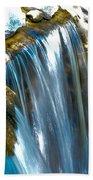 Small Stop Motion Waterfall Beach Towel