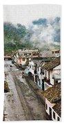 Small Town Ecuador Beach Towel