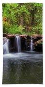 Small Waterfall At Rock Creek Beach Sheet
