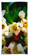 Small White Flowers Beach Towel