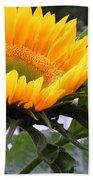 Smiling Flower Beach Towel