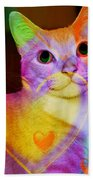 Smiling Kitty Beach Towel