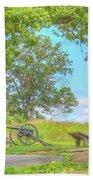 Smiths Battery Devils Den Gettysburg Beach Towel