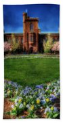 Spring Blooms In The Smithsonian Castle Garden Beach Towel