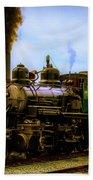 Smoke Stack Steam Train Beach Towel