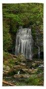 Smokey Mountain Waterfall Beach Towel