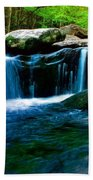 Smokey Mountains Mountain Stream 4 Beach Towel