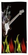 Smoking Guitar Beach Sheet