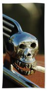 Smoking Skull Hood Ornament Beach Towel