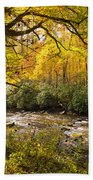 Smoky Autumn Beach Towel