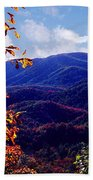 Smoky Mountain Autumn View Beach Towel