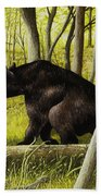 Smoky Mountain Bear Beach Towel