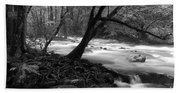 Smoky Mountain Stream Beach Towel