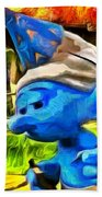 Smurfette And Friends - Pa Beach Towel