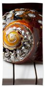 Snail Shell On Keys Beach Towel
