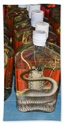 Snake In A Bottle Beach Towel