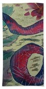 Snake In The Garden Beach Towel