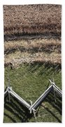 Snake-rail Fence And Cornfield Beach Towel