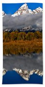 Snake River Fall Reflections Beach Towel