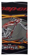 Snap-on Chopper Beach Towel
