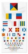 Snellen Chart - Nautical Flags Beach Towel