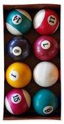 Snooker Balls Beach Towel by Carlos Caetano