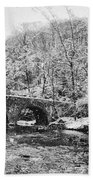 Snow Along The Wissahickon Creek Beach Towel by Bill Cannon