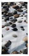 Snow And Stone Beach Towel
