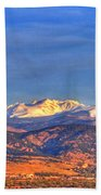 Snow-capped Panorama Of The Rockies Beach Towel by Scott Mahon