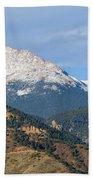 Snow Capped Pikes Peak Colorado Beach Towel