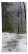 Snow Covered Path Quantico National Cemetery Beach Towel