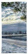 Snow Covered Pines Beach Towel