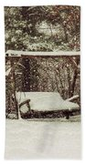 Snow Covered Swing Beach Towel