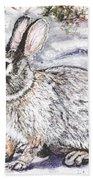Snow Day Bunny Beach Towel