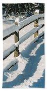 Snow Fence Beach Towel
