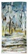 Snow Forest Beach Towel