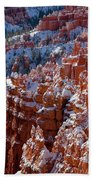 Snow In Bryce Canyon Beach Towel