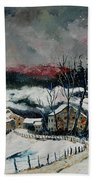 Snow In Sechery Redu Beach Towel