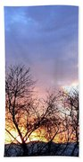 Snow In The Distance Beach Towel