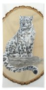 Snow Leopard - Renewed Perception Beach Towel